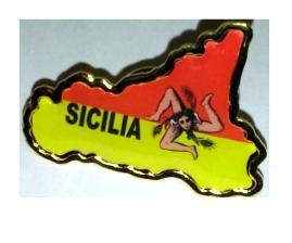 SPILLA SICILIA MAPPA GIALLO ROSSA COD.PINSMT018