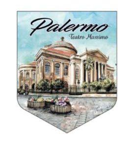 ADESIVO PALERMO TEATRO MASSIMO COD.AD/09