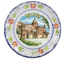 PIATTO PALERMO CATTEDRALE CM. 15 COD.73744-PC