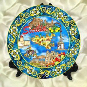 PIATTO SICILIA CM 10 cod.13/478 SIC