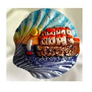 Magnete ceramica naif conchiglia cod. 280/201-2