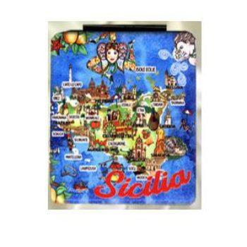 SPECCHIETTO ECOPELLE RETT SICILIA COD.42/170SIC