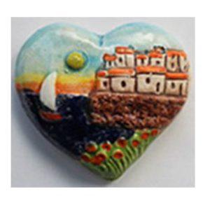 Magnete ceramica naif cuore cod. 280/201-5
