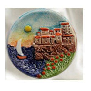 Magnete ceramica naif piattino cod. 280/201-6