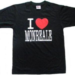 T-SHIRT I LOVE MONREALE COL. ASS MIS. ASS. Cod. T-SHIRT 43