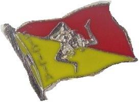 SPILLA BANDIERA TRINACRIA cod. PINS/1618