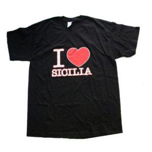 T-SHIRT I LOVE SICILIA BAMBINO/A COL. ASS MIS. ASS. Cod. T-SHIRT C